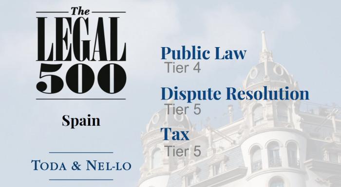 Toda & Nel-lo The Legal 500 rankings